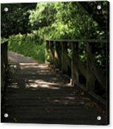 Quiet Path Bridge Acrylic Print