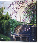 Quiet Repast In The Cotswalds Acrylic Print