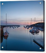Quiet Solitude Rockport Harbor Acrylic Print