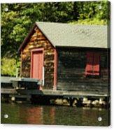 Quiet Sunapee Fishing Cabin Acrylic Print