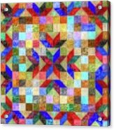 Quilt Pattern No. 1 Acrylic Print