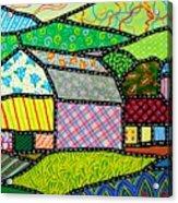 Quilted Bath County Barn Acrylic Print