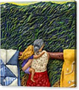 Quilted Harvest Acrylic Print by Anne Klar