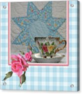 Quilted Star Card Acrylic Print