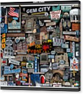 Quincy, Il Collage Acrylic Print