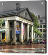 Quincy Market On A Wet Day Acrylic Print