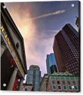 Quincy Market Sky Acrylic Print