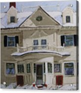 Quincy Street Acrylic Print by Mary Capriole