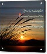 Quote5 Acrylic Print