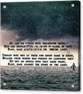Quotes From Interstellar Acrylic Print