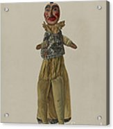 """punch"" Clown Puppet Acrylic Print"