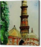 Qutab Minar Of India, Monument Of India Acrylic Print