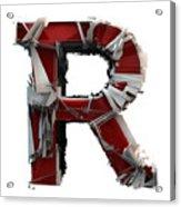 R Is Rock N Roll Acrylic Print