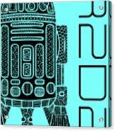 R2d2 - Star Wars Art - Blue Acrylic Print