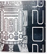 R2d2 - Star Wars Art - Space Acrylic Print