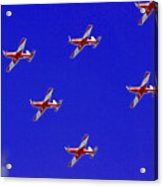 Raaf Roullettes Flying Across North Head Sydney Acrylic Print