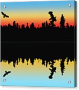 Rabbit Blanket Lake Acrylic Print