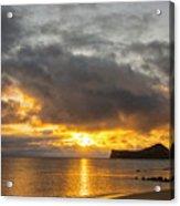 Rabbit Island Sunrise - Oahu Hawaii Acrylic Print by Brian Harig