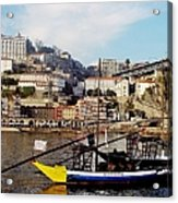 Rabelo Boats On River Douro In Porto 02 Acrylic Print