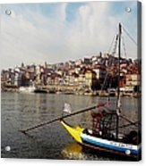 Rabelo Boats On River Douro In Porto 03 Acrylic Print