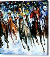 Race On The Snow Acrylic Print