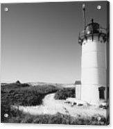 Race Point Lighthouse Black And White Photo Print Acrylic Print