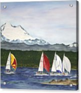 Race Week On Whidbey Island Acrylic Print