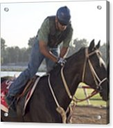 Racehorse At Evangeline Downs Acrylic Print