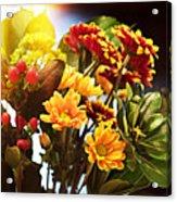 Rachels Flowers Acrylic Print