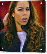 Rachel's Look Acrylic Print