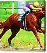 Racing In The Stretch Acrylic Print