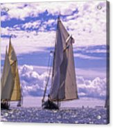 Racing On Open Waters Acrylic Print