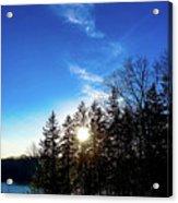 Racing The Setting Sun Acrylic Print
