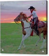 Racing The Sunset Acrylic Print