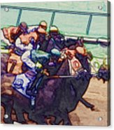 Racing To The Finish Line Acrylic Print