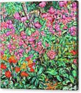 Radford Flower Garden Acrylic Print