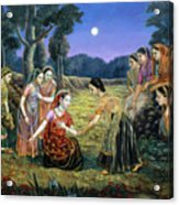 Radha Lamenting With The Gopis Acrylic Print