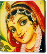 Radha - The Indian Love Goddess Acrylic Print