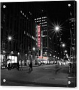 Radio City Colors Acrylic Print
