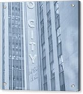 Radio City Cool Toned Acrylic Print