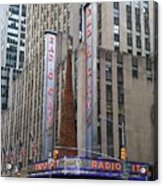 Radio City Music Hall New York City Acrylic Print