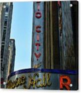 Radio City Music Hall Acrylic Print by Paul Ward