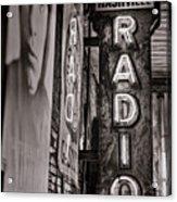 Radio Nashville - Monochrome Acrylic Print