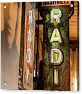 Radio Nashville Sign Acrylic Print