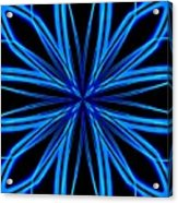Radioactive Snowflake Blue Acrylic Print