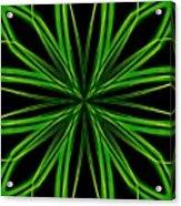 Radioactive Snowflake Green Acrylic Print