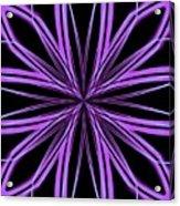Radioactive Snowflake Purple Acrylic Print