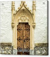 Radovljica Church Door Acrylic Print