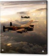 Raf Lancaster And Spitfire Acrylic Print