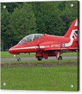 Raf Red Arrows Jet Lands Acrylic Print